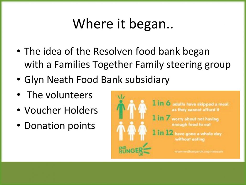 Local Food Bank Opens Resolven District News